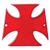 V-Factor 11725 Maltese Cross Taillight Lens Red suit Harley & Custom