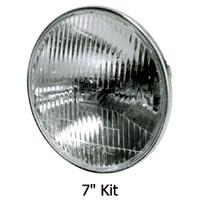 "Candlepower HEADLIGHT LENS KITHALOGEN 7"" STANDARD STYLE LENS 12V 60/55W RPLS HD 67755-81A...MFG.702212"
