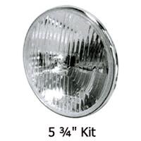 Candlepower HEADLIGHT LENS KITHALOGEN5.75 STANDARD STYLE LENS 12V 60/55W RPLS HD 67698-81B..MFG H402212