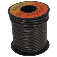 ELECTRICAL WIRE BROWN 18 GAUGE STR ANDED COPPER W/PVC JACKET45' ROLL