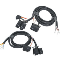 "V-FACTOR Handlebar Switch Wiring Kit w/48"" Long Wire Blk 96-06 Big Twin & Sportster Fits Harley Davidson"