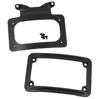 CURVED LICENSE PLATE FRAME,BLK TOURING MODELS 2010/LATER* RPLS HD 67900058