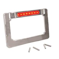 "LIC PLATE FRAME W/LED LT STRIP RED LED LIGHT STRIP FIT 4""X7"" LIC PLATE"