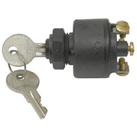BLACK IGNITION SWITCH (WATERPROOF)  FITS HARLEY OR CUSTOM USE