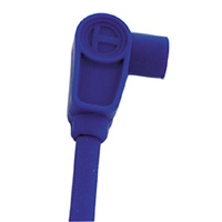 """Sumax by Taylor Spiro Pro Core Universal Plug lead 8mm Blue with 90 Degree Boots 24"""" Long"""