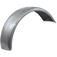 "Kraft Tech Flat Rear Fender Raw Steel For Wide Tire Rigid Frame & Custom Use 8 1/2"" Wide"