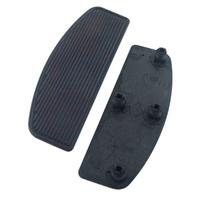 FOOTBOARD PADS W/ISOLATORS TOURING 80/L FLST 86/L W/ STRAIGHT LINE RI