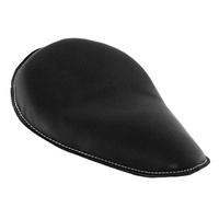 """Seat Solo 12"""" Long x 9"""" Wide Black Leather Suit Custom Applications"""