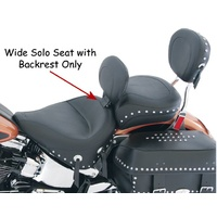 Mustang WIDE SOLO W/DRIVER BACKREST FITS SOFTAIL 2000/LATER* MUSTANG #79485