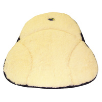 "MILE BUSTER SEAT CUSHIONS GEL 20"" LONG 21""/15"" WIDE CREAM WOOL BLEN"