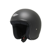 M2R Custom FG Open Face Helmet Matte Black w/No Peak