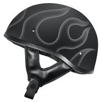 M2R Rebel Shorty Helmet Flamed Matte Black