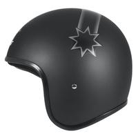 M2R Custom FG Open Face Helmet Last Stand Matte Black