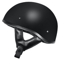 M2R Rebel Shorty Helmet Semi Flat Black