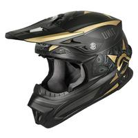 M2R EXO Helmet Unit Oldschool Matte Gold/Black