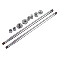 SPRINGER ROD AND NUT SET USE WITH M OST CUSTOM SPRINGERS CHROME PLATED