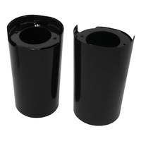 FORK SLIDER COVERS,BLACK FLT MODELS 2014/LATER* RPLS HD 45600023