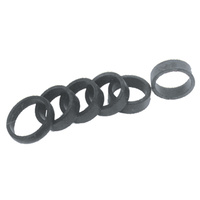 REPLACEMENT RUBBERS FOR WIDE O RING STYLE GRIPS TO SUIT HARLEY AND CUSTOM
