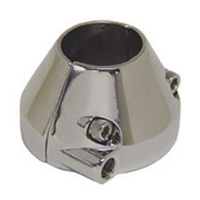 V-FACTOR  THROTTLE CABLE HOUSING CLAMP UW SINGLE CABLE W/ 5/16-18 THD CONE SHAPECHROME PLATED