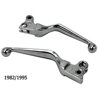 V-FACTOR  HAND LEVERSCL&BRK WIDE BLADE POWER GRIP ALL MODELS 1982/95 CHROME REPLACES HD 45049-92