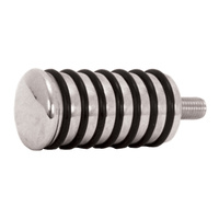 V-FACTOR  SHIFT PEGCHROME O RING TYPE FITS ALL MODELS MATCHES ALL O RING FOOTRESTS RPL 34631-84T