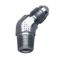 "BRAKE PARTADAPTER FITTING  CP 1/8"" NPT MALE/#3 MALE 45  DEGREE INVERTE"