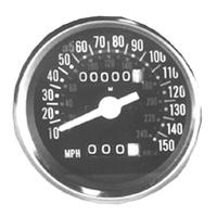 SPEEDOMETER150 MPH FACE FX 73/82 H .BAR FX 77/84 EX WG ST TANK MT RPLS