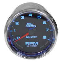 TACHOMETER8000 RPM AUTOMETER CUSTO M APPBLACK DIALCP BEZEL AND CUP1