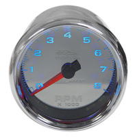 TACHOMETER8000 RPM AUTOMETER CUSTO M APPCHROME DIALCP BEZEL/CUP12 V