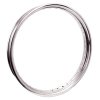 "V-FACTOR  RIM CHROME STEEL 2.15""X21"" FRONT 40 SPOKE DROP CENTER RPLS HD 43662-80B"