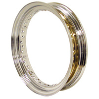 "V-FACTOR  CHROME STEEL RIM 2.50"" X 19"" FRONT 40 SPOKE DROP CENTER RPLS HD# 43001-79"