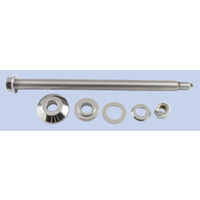 CHROME AXLE KIT TO SUIT HARLEY FLSTSC 2005/2007 AND CUSTOM