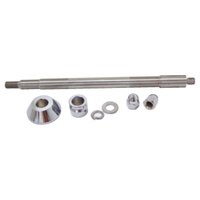 FRONT CHROME AXLE KIT TO SUIT HARLEY FXSTD DEUCE 2000/2006 OR CUSTOM