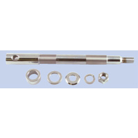 AXLE KIT FRONT FITS FXD 2000/2003 XL 2000/07 W/CHROME HARDWARE