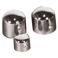CHROME AXLE NUT COVER FOR FL 1949/1972 HARLEY OR CUSTOM USE