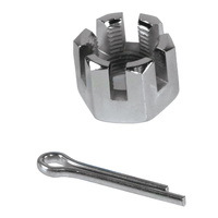 """CASTLE NUT FOR 1"""" DIA AXLE INCLUDES COTTER PIN"""
