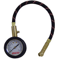"ANALOG TIRE PRESSURE GAUGE 0/60 PSI IN 1 LBS INCREMENTS 2"" DIAL10"" LG"