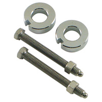 Axle Adjuster Kit Softail 00-07 Chrome Suit Harley or Custom Applications