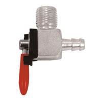 """V-FACTOR  FUEL VALVE1/4""""NPT MALE THREAD 90 DEGREE FITTING WO/RESERVE USE 1/4"""" ID HOSE"""