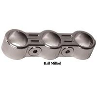 "Oil Line Chrome Ball Milled 3 Line Separator 5/8"" O.D Suit Harley or Custom Use"