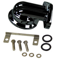 BLACK OE STYLE OIL FILTER MOUNTING KIT TOURING 99-06 DYNA 99-05 HARLEY CUSTOM