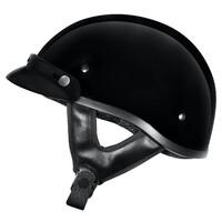 M2R Rebel Shorty Helmet Black w/Peak