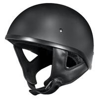 DriRider Street Shorty Open Face Helmet (no Peak) Flat Black