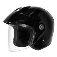 DriRider Freedom Touring Open Face Helmet Black