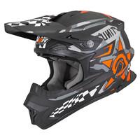 M2R EXO Helmet Unit Bulletin Matte Black/Orange