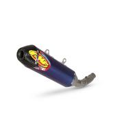 FMF Racing 045629 Factory 4.1 RCT Blue Anodized Titanium Slip-On Muffler w/Carbon End Cap for KTM/Husqvarna/Gas Gas Models