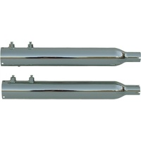 """Rush 15305-150 Touring Chrome Series Muffler Tip Compatible w/1.50"""" Baffle for Touring 95-09"""