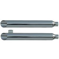 "Rush 20804-175 Softail Chrome Series Muffler Baloney Cut w/1.75"" Baffle for Softail 2000-2006"