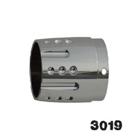 Rush 3019 Tapered w/Alternating Horizontal Grooves and Dimples 3000 Series Tip for 14,16,17,18,20,25,26,27,28,29 Series Mufflers
