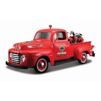 Maisto 1:24 Scale Ford Pick-Up 1948 w/Knucklehead Diecast Model